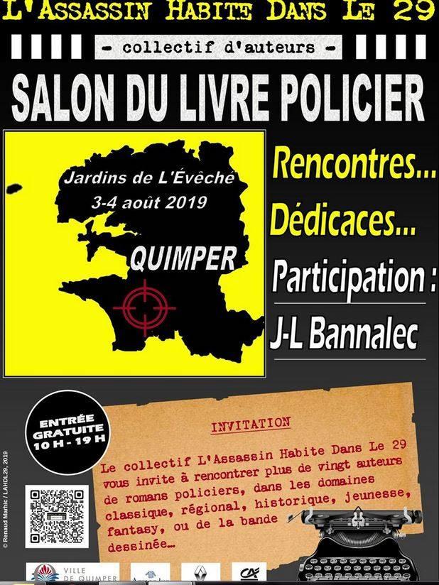 Le salon du livre policier à Quimper